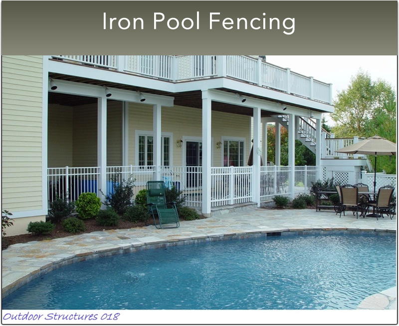 B- Small Iron Pool Fencing  (3)