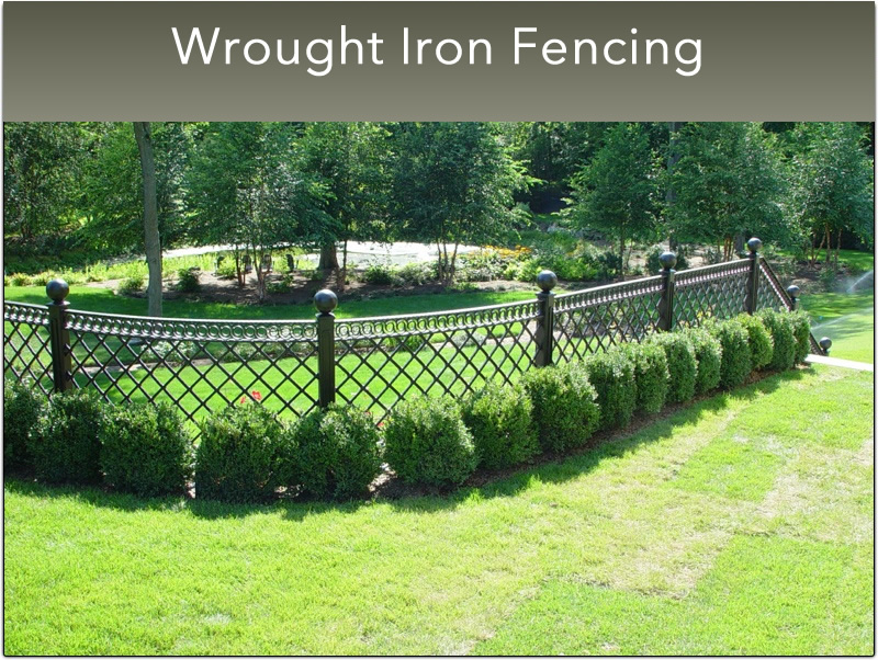 B- Small Wrought Iron Fencing  (14)