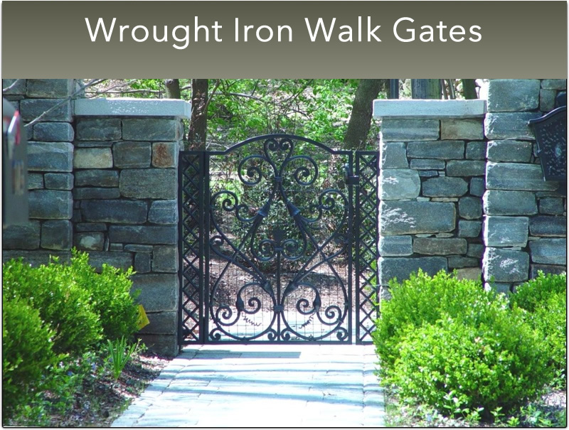 B- Small Wrought Iron Walk Gates (23)
